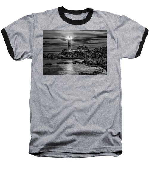 Portland Lighthouse 7363 Baseball T-Shirt