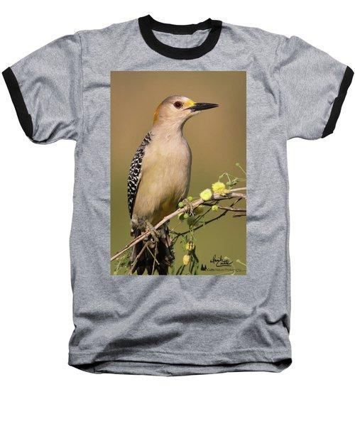 Portrait Of A Golden-fronted Woodpecker Baseball T-Shirt