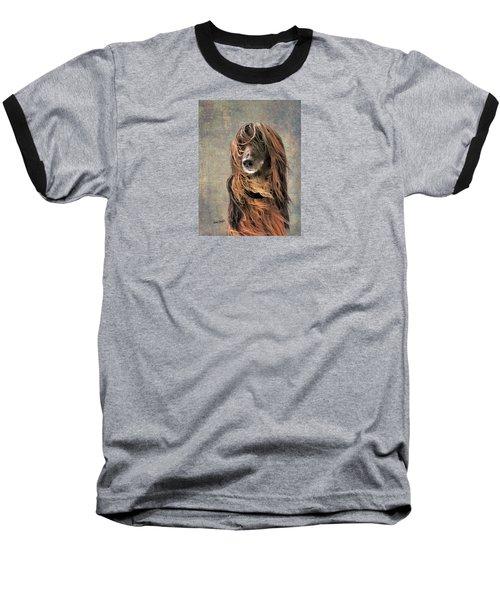 Portrait Of An Afghan Hound Baseball T-Shirt