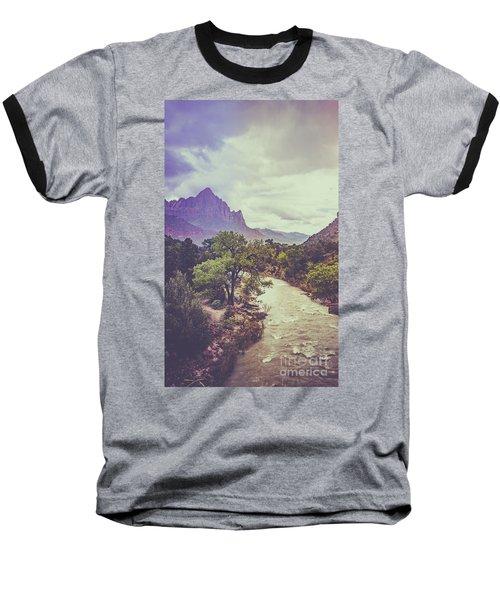 Postcard Image Baseball T-Shirt