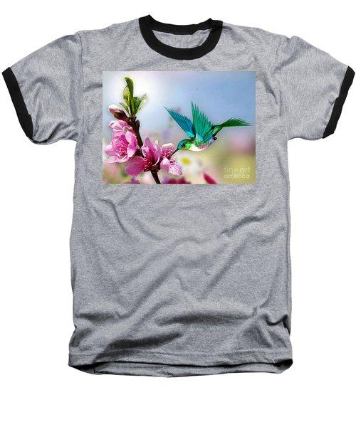 Pretty Hummingbird Baseball T-Shirt