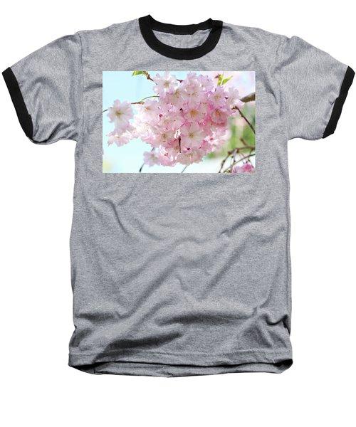 Pretty Pink Blossoms Baseball T-Shirt