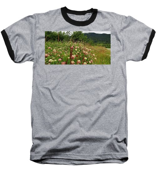 Pretty Pink Fields Baseball T-Shirt