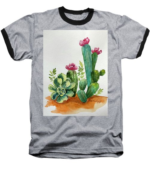 Prickly Cactus Baseball T-Shirt