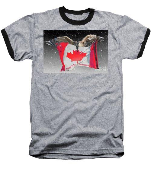Proud To Be Canadian Baseball T-Shirt