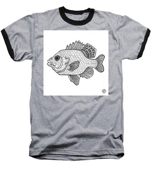 Pumpkinseed Fish Baseball T-Shirt
