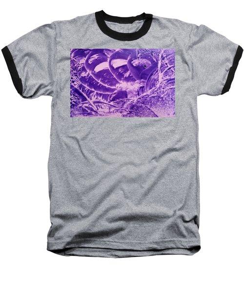 Purple Abstract, Octopus Baseball T-Shirt