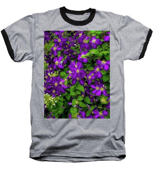 Baseball T-Shirt featuring the photograph Purple Flowers by Lora J Wilson