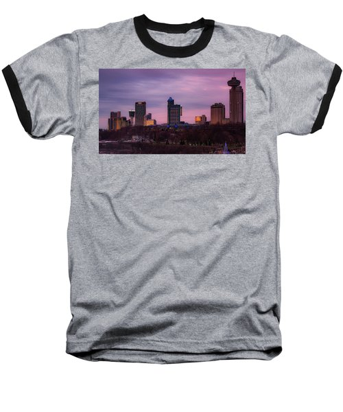 Purple Haze Skyline Baseball T-Shirt