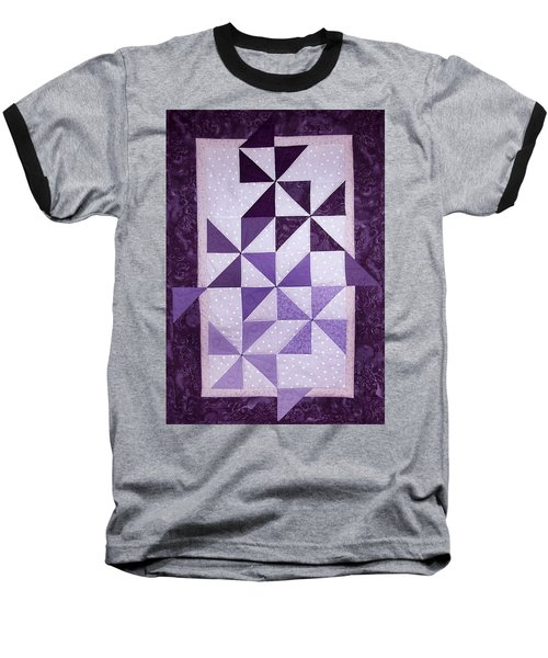 Purple Pinwheels Pirouetting Baseball T-Shirt