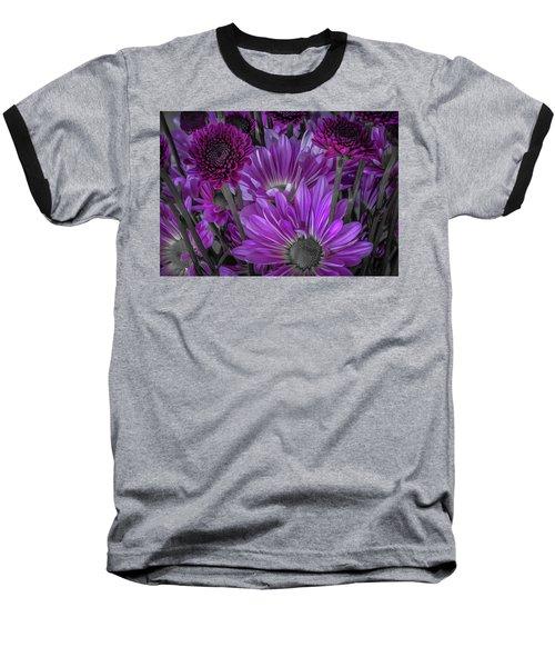Purple Power Chrysanthemum  Baseball T-Shirt