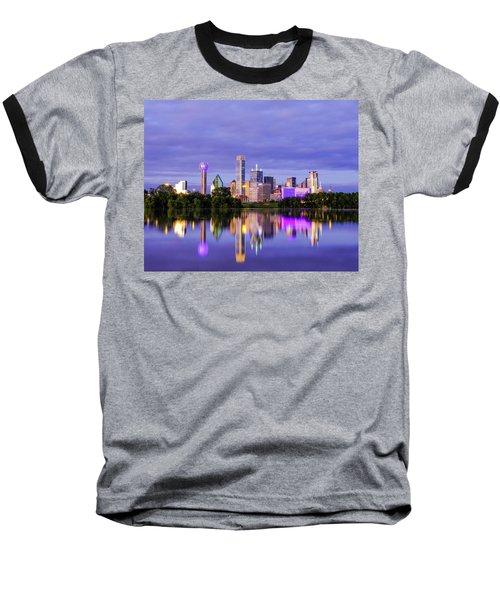 Purple Rain City Of Dallas Texas Baseball T-Shirt