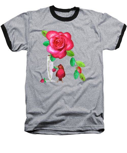R Is For Rose And Robin Baseball T-Shirt