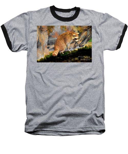 Raccoon 609 Baseball T-Shirt