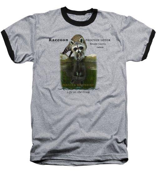 Raccoon Puzzler And Mastermind Baseball T-Shirt