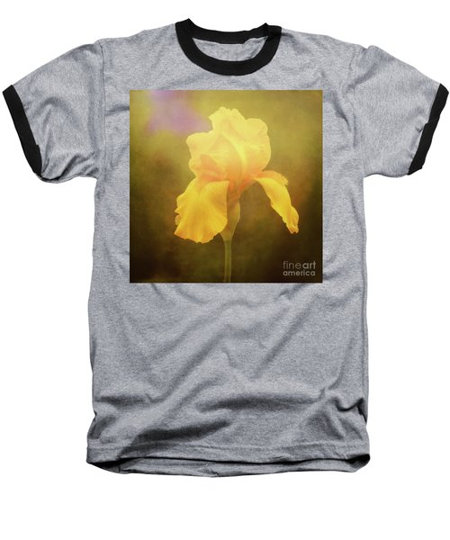 Radiant Yellow Iris With A Vintage Touch Baseball T-Shirt