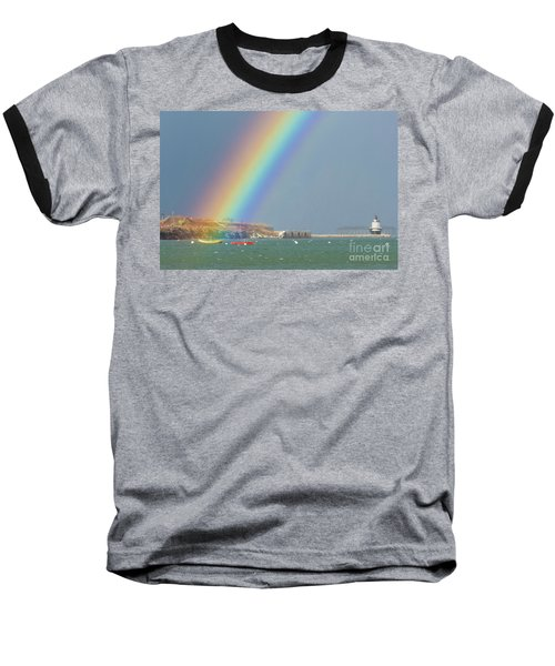 Rainbow At Spring Point Ledge Baseball T-Shirt