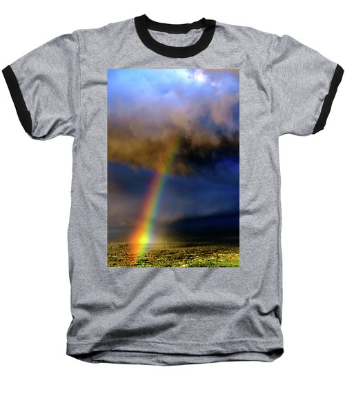 Rainbow During Sunset Baseball T-Shirt