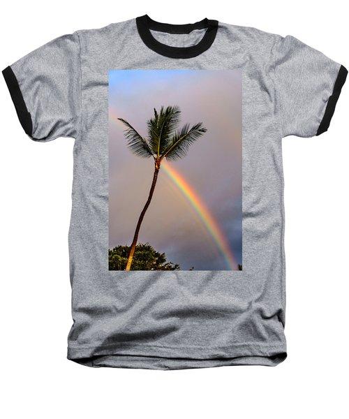 Rainbow Just Before Sunset Baseball T-Shirt