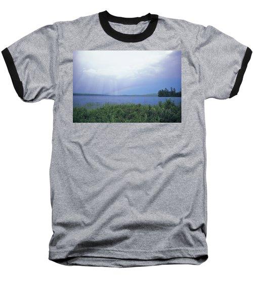Rainbow Over Raquette Lake Baseball T-Shirt