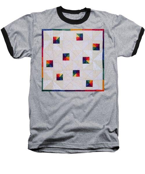 Rainbow Pinwheel Baseball T-Shirt