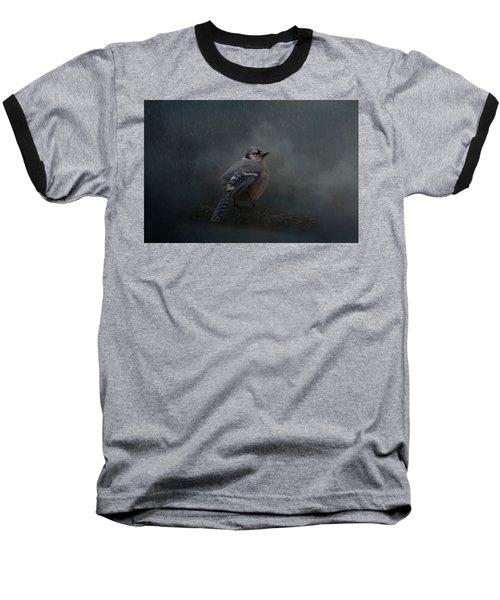 Rainy Day Blues  Baseball T-Shirt
