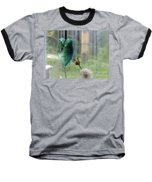 Rainy Morning At The Bird Feeder Baseball T-Shirt