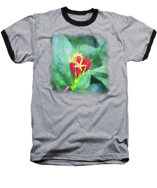 Red And Yellow Flowers Baseball T-Shirt