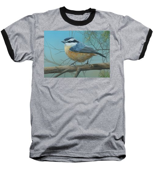 Red Brested Nuthatch Baseball T-Shirt