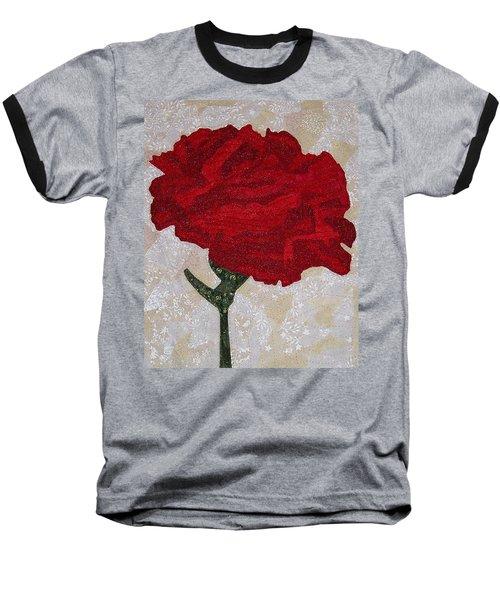 Red Carnation Baseball T-Shirt