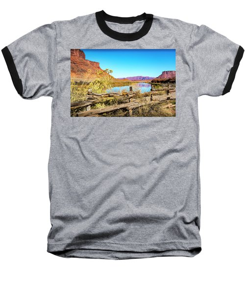 Baseball T-Shirt featuring the photograph Red Cliffs Canyon by David Morefield