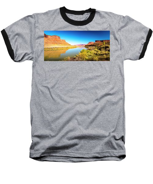 Baseball T-Shirt featuring the photograph Red Cliffs Canyon Panoramic by David Morefield