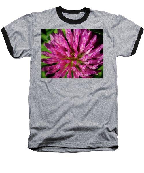 Red Clover Flower Baseball T-Shirt
