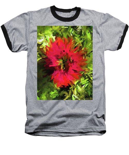 Red Flower Flames Baseball T-Shirt
