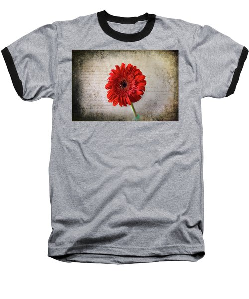 Baseball T-Shirt featuring the photograph Red Gerbera by Milena Ilieva