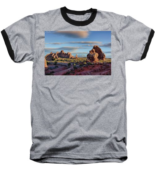 Red Rock Formations Arches National Park  Baseball T-Shirt