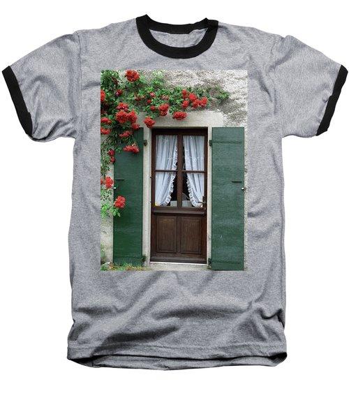 Red Rose Door Baseball T-Shirt