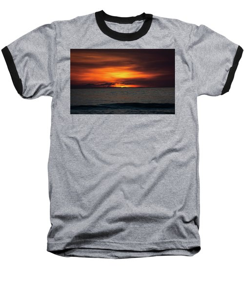 Baseball T-Shirt featuring the photograph Red Sunrise by Lora J Wilson
