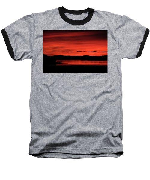 Red Sunset Baseball T-Shirt