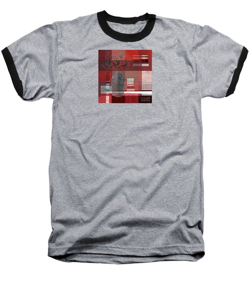 Reflection On A Red Plaid Tablecloth Baseball T-Shirt