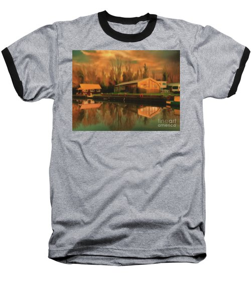 Baseball T-Shirt featuring the photograph Reflections On The Wey by Leigh Kemp