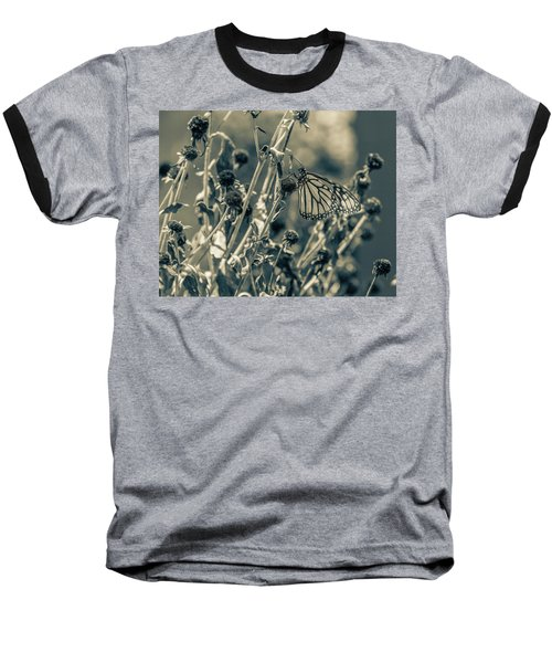 Resting Butterfly Bw Baseball T-Shirt