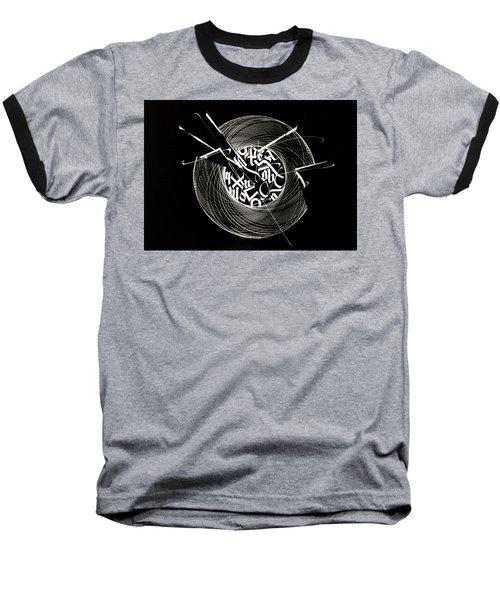 Ring Of Saturn. Calligraphic Abstract Baseball T-Shirt