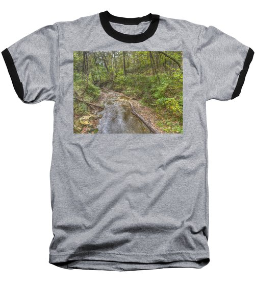 River Flowing Through Pine Quarry Park Baseball T-Shirt