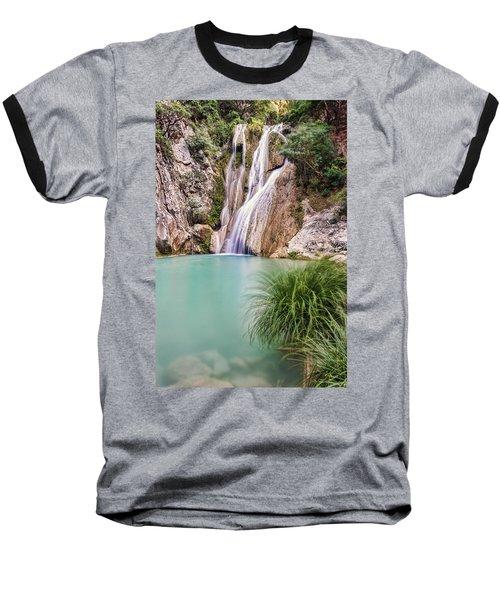 River Neda Waterfalls Baseball T-Shirt