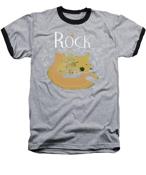Rock Guitar Music Notes Baseball T-Shirt