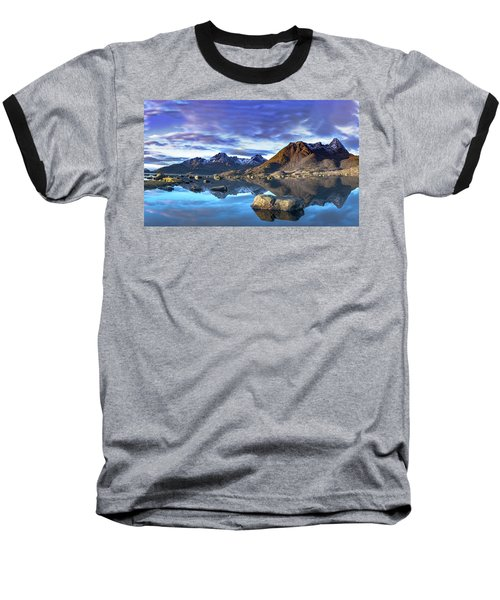Rock Reflection Landscape Baseball T-Shirt