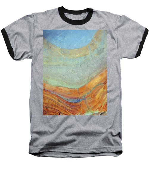 Rock Stain Abstract 7 Baseball T-Shirt
