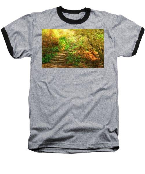 Rock Stairs Baseball T-Shirt