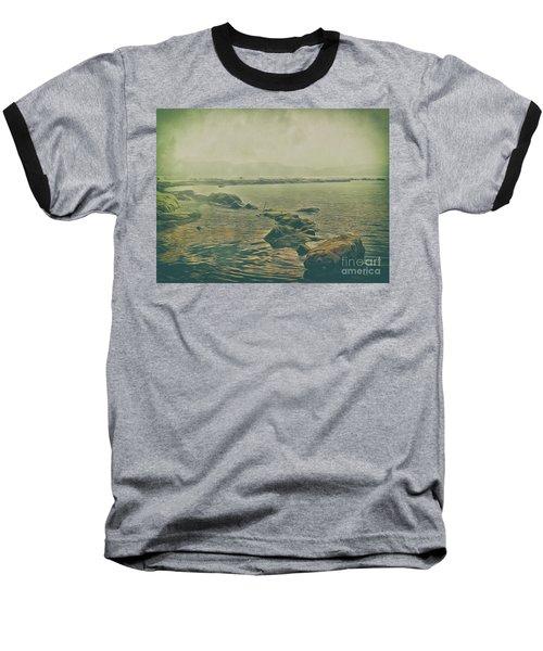 Baseball T-Shirt featuring the photograph Rock Steady by Leigh Kemp